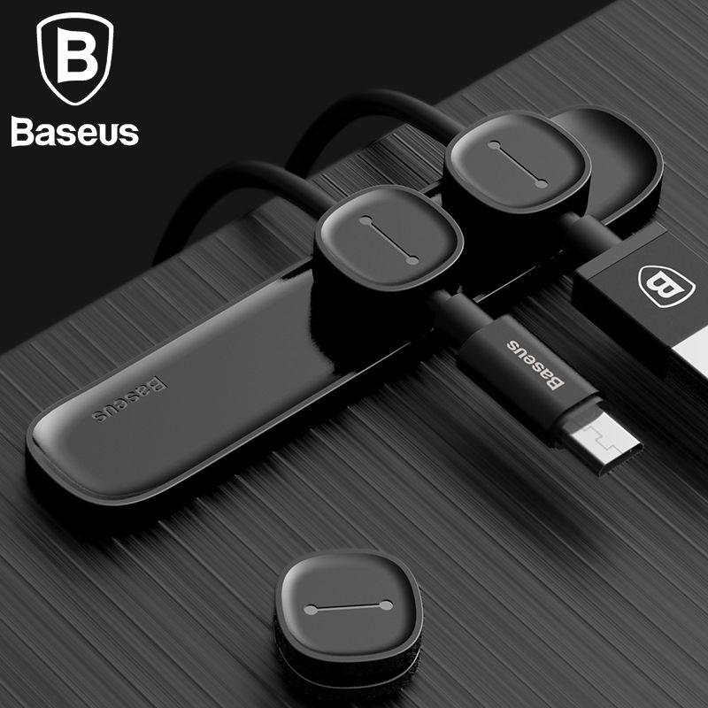 Baseus magnetische tpu kabel clip desktop ordentlich kabelmanagement ...