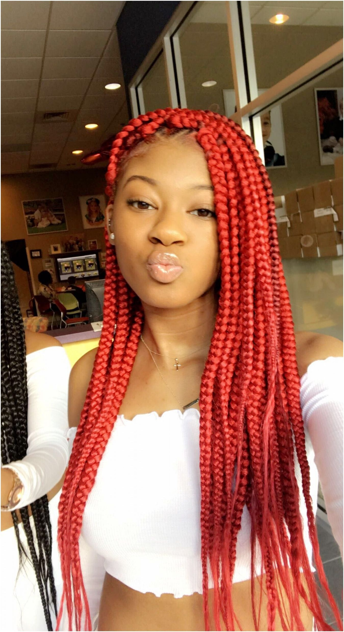 27++ Red and black box braids hairstyles ideas in 2021