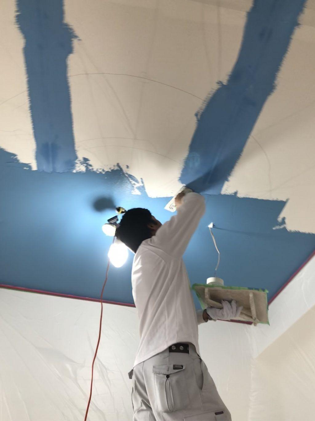 今日は天井のみ珪藻土仕上げです Em珪藻土ならok Crafts 天井