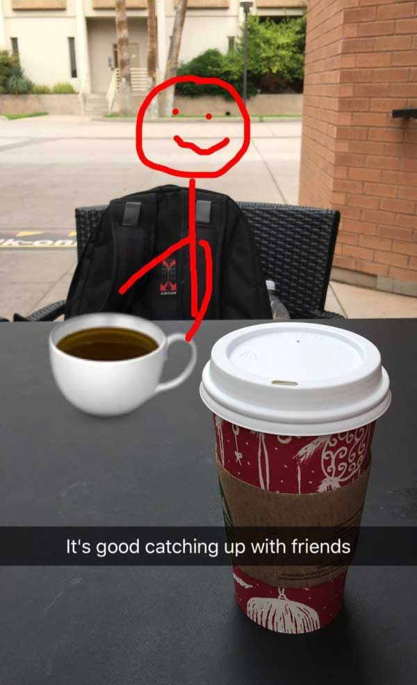 New Funny Snapchat Funny Snapchats: 24 That Lit the Internet on Fire | Team Jimmy Joe Catching up with old friends ~ funny snapchat humor 9