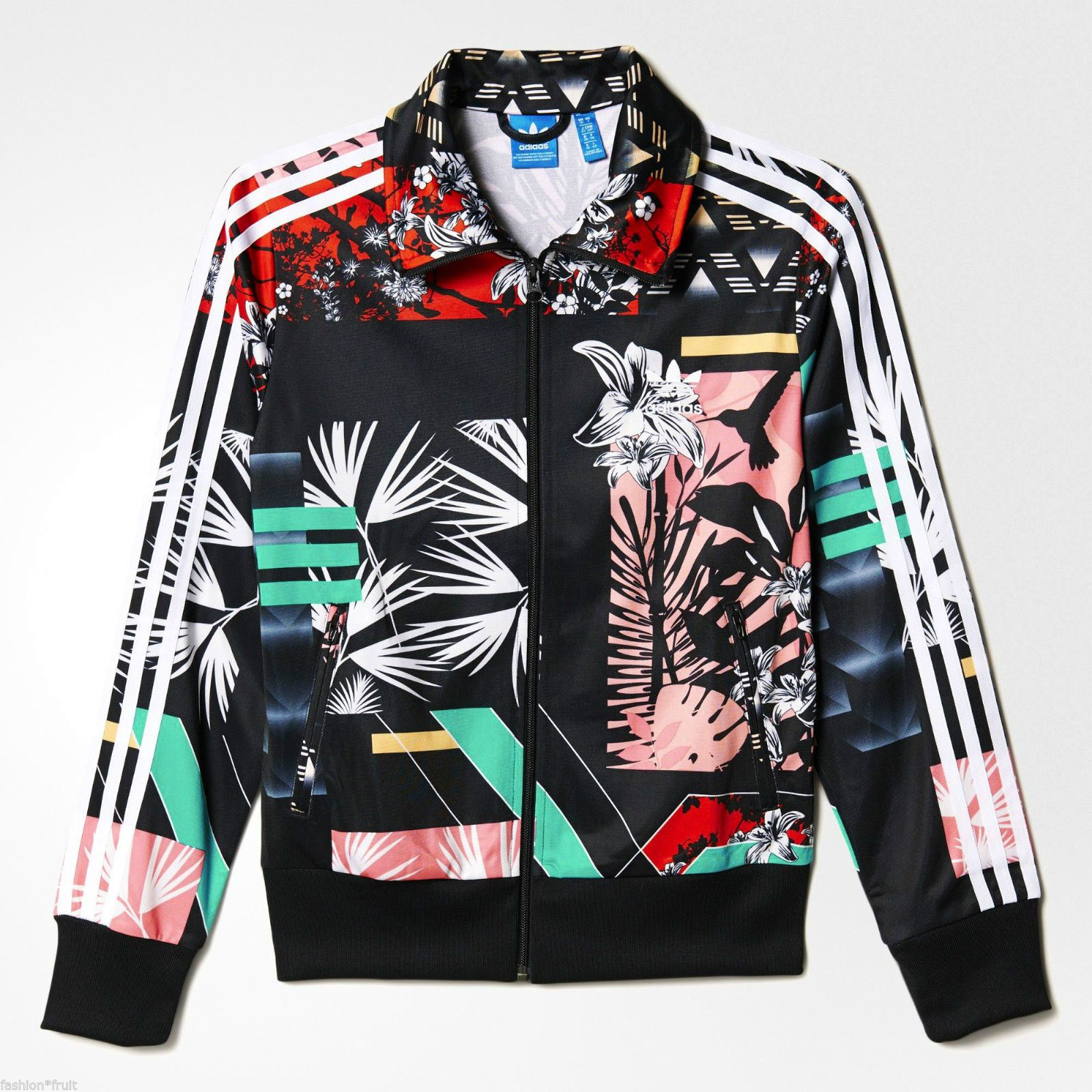 06c7f6b65d Adidas Originals Women Floral Football Firebird Soccer Track Top Jacket s M  L