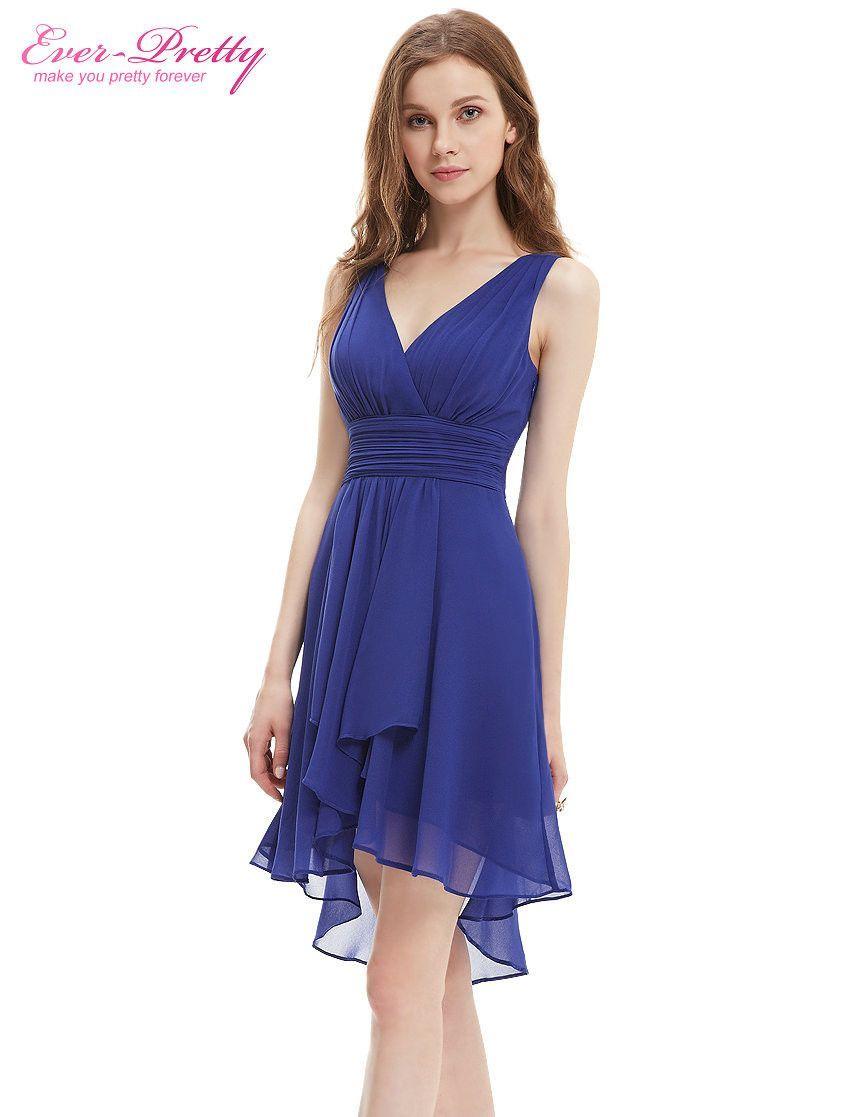 9052d60d55 Bridesmaid Dress Ever Pretty A Line New Arrival HE03644 Ruffles V Neck  Lilac High Low Bridesmaid Dresses 2016