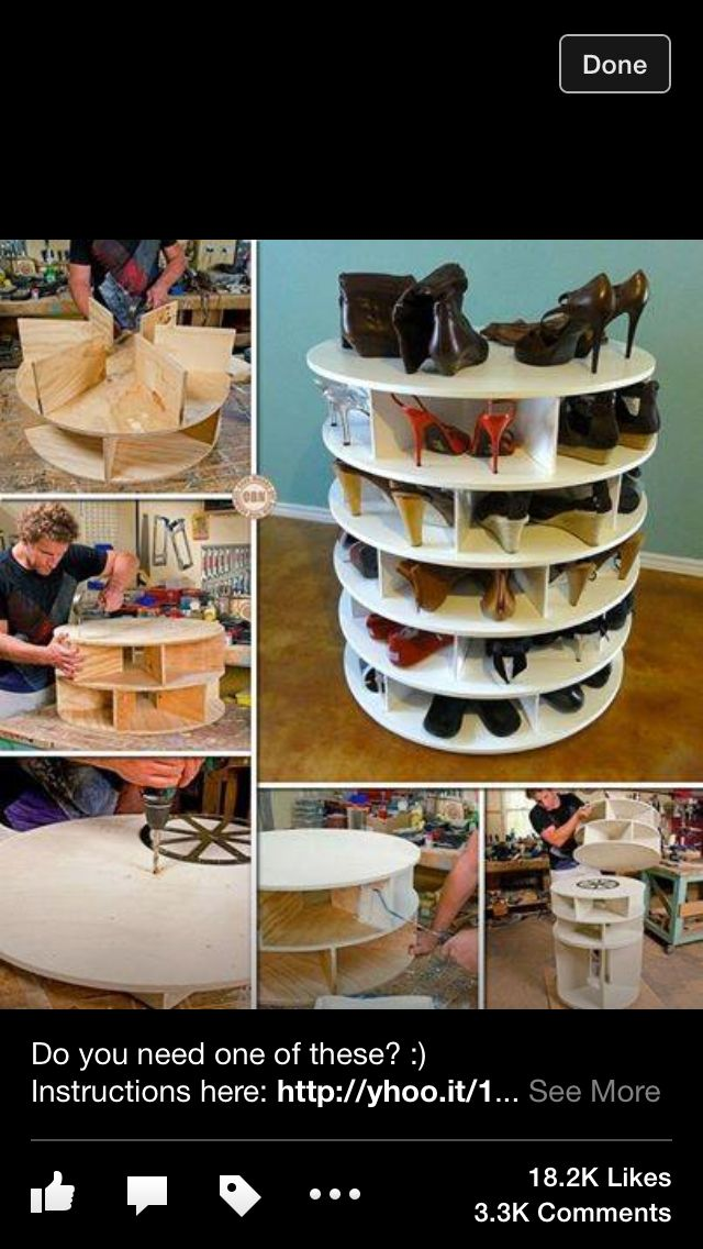 Shoe display lazy Susan style - yes please!