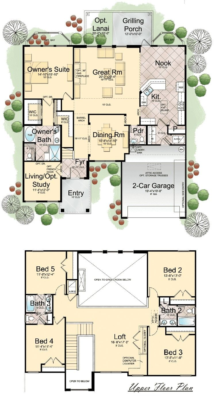 Awesome 5 Bedroom Floor Plans 2 Story With Apartments Ideas Images Inside House Home Design Floor Plans House Plans House Plans 2 Story