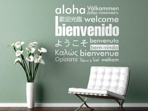 decoracin de paredes con palabras o frases