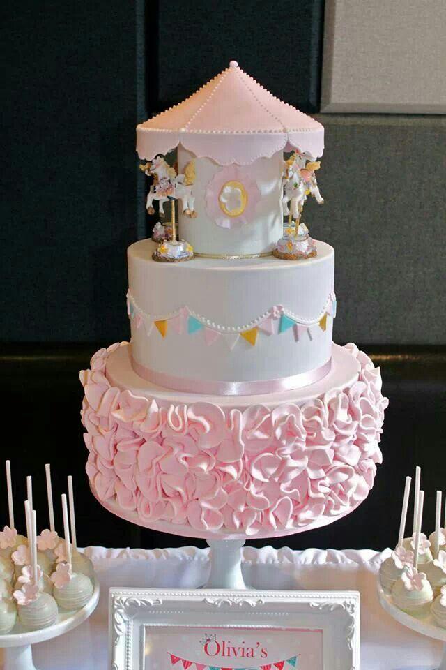 Carousel Cake Bizcochoscakescupcakesflan Custardcheesecakes