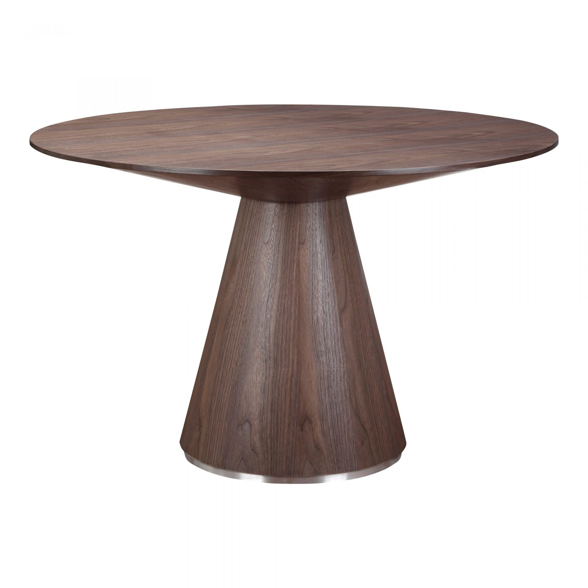 Otago Dining Table Round Walnut Tables Moe S Whole