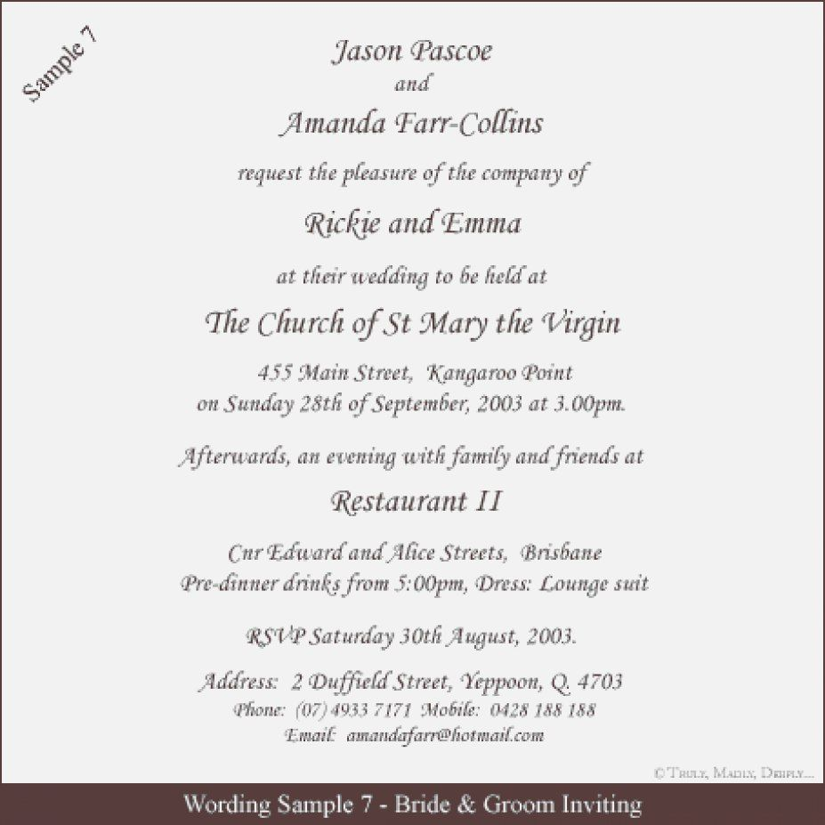 Formal Wedding Invite Wording Formal Wedding Invitation Wording Examples In 2020 Wedding Invitation Quotes Wedding Invitation Wording Examples Fun Wedding Invitations
