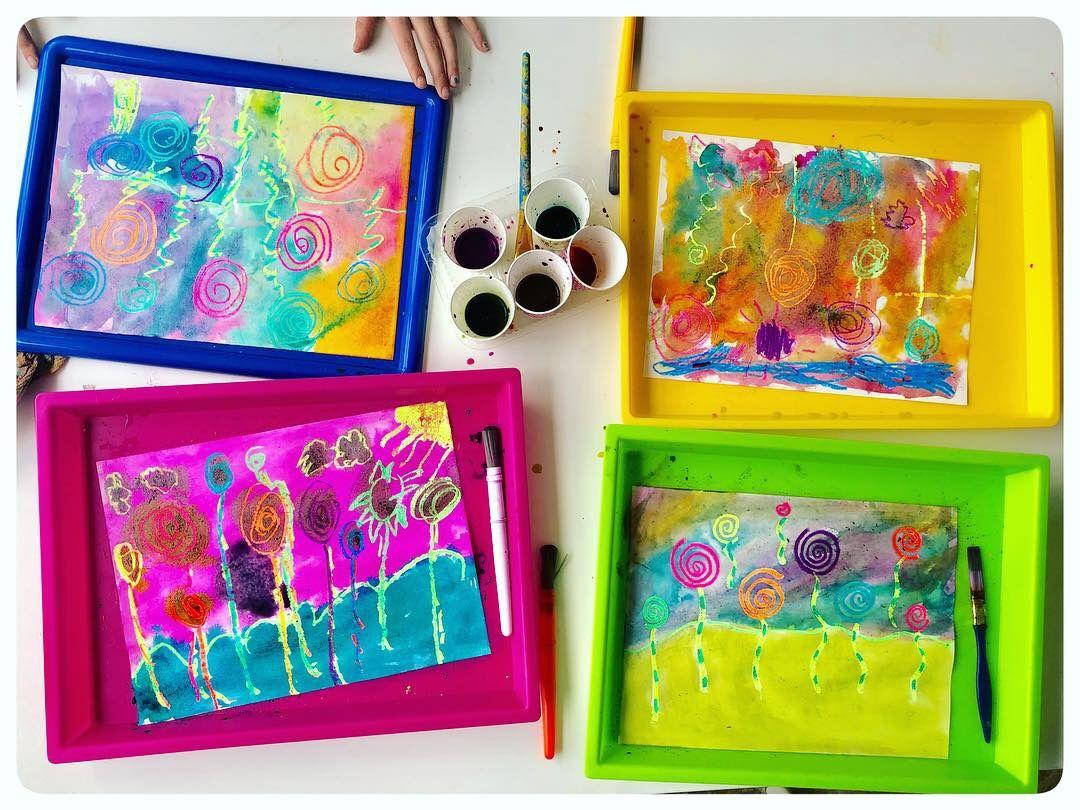 Truffula Trees Art Dr Seuss Lorax Inspired Art Using Crayola Oil