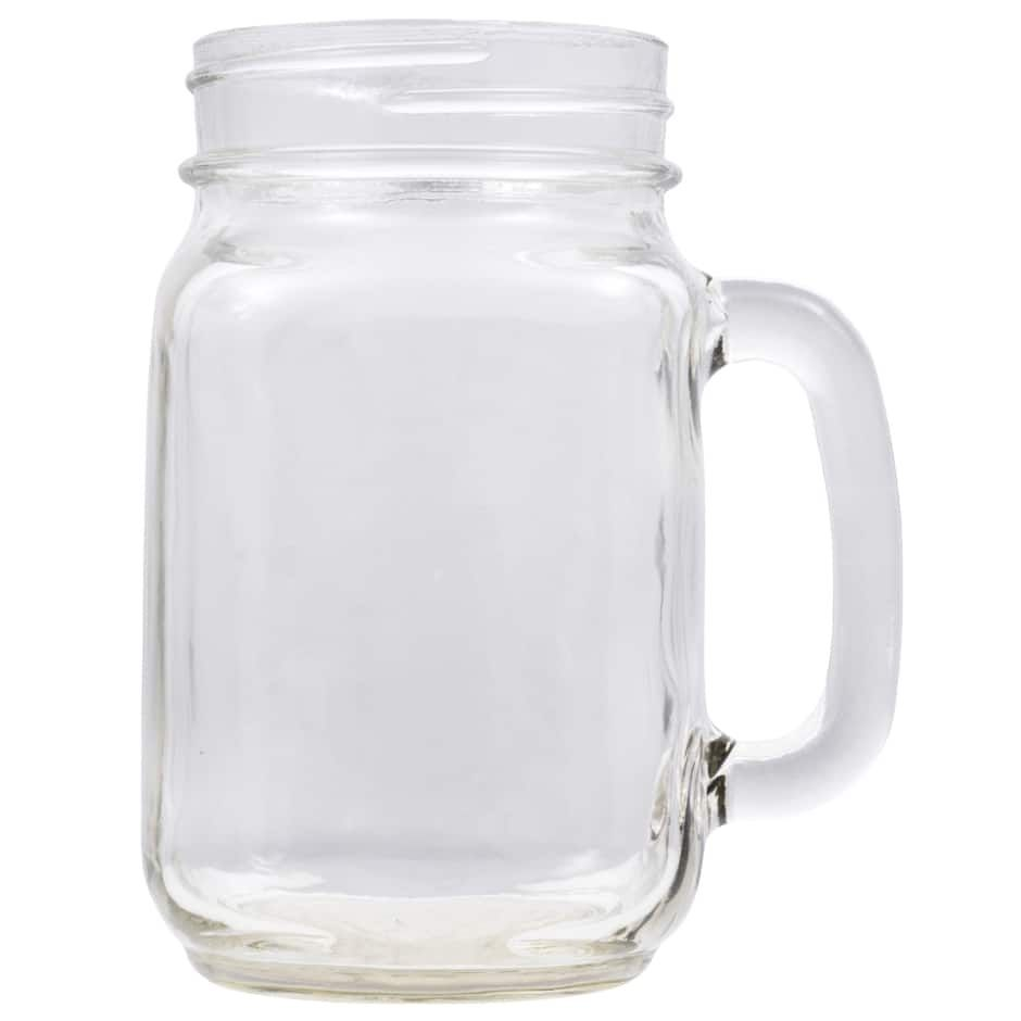 Glass Pint Jar Mugs 16 Oz Clear Glass Jars Pint Jars Mugs