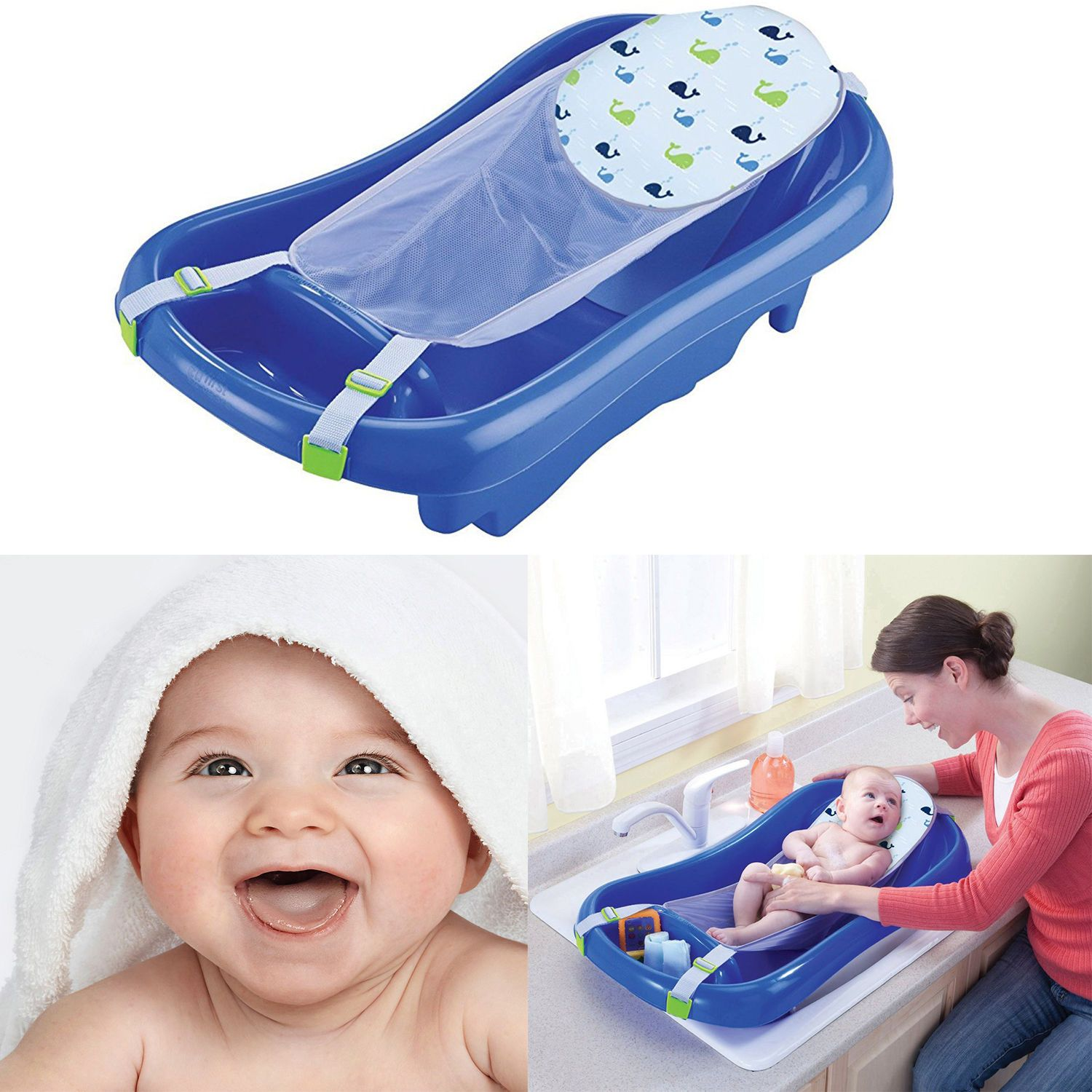 Baby Infant Bath Tub Safety Seat Bathing Newborn Spa Shower Mesh ...