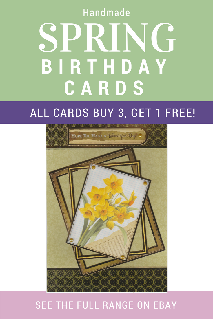 Handmade Birthday Card For Anyone Born In March April Or May Featuring Flowers Each