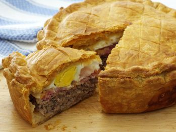 This is BRUTAL.  One bite, and you'll have to run 10 miles!  Sausage, Bacon, and Egg Pie  Heart Print Email FacebookTwitterStumbleupon  Info        Course: Main Course      Total Time: Under 4 Hours      Skill Level: Challenging      Cost: Moderate      Favorited: 24 Times      Can be made ahead of time