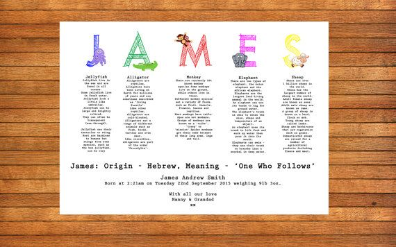 Personalised Name Print A4 Illustrated Name by WordPerfectPictures