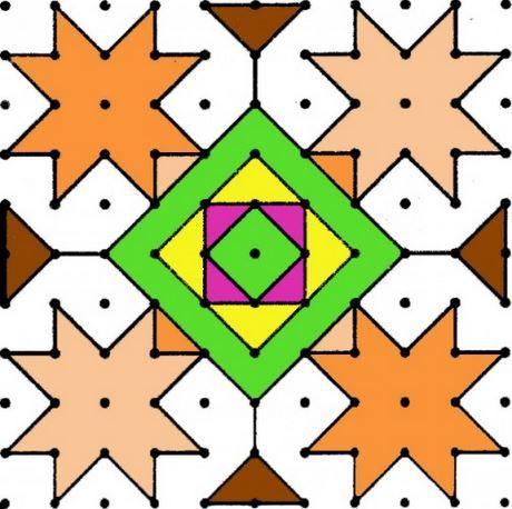 rangoli designs with dots   rangoli rangoli pinterest