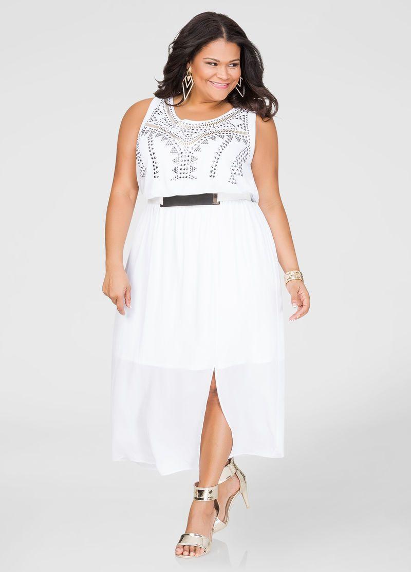 Gold Plate Belt Maxi Dress Plus Size Dresses Ashley Stewart 010 Lwd2290hg Long Dresses Casual Maxi Plus Size Fashion For Women Plus Size Dresses [ 1115 x 800 Pixel ]
