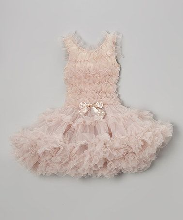 Another great find on #zulily! Ivory Ruffle Dress - Infant, Toddler & Girls by Popatu by Posh #zulilyfinds