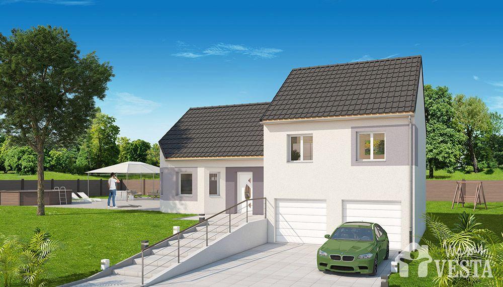 Maisons VESTA  Modèle Montana (demi-niveau) type F5 96 m² + surface