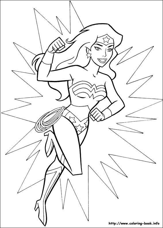 Wonder Woman coloring page Animal crafts Pinterest Wonder
