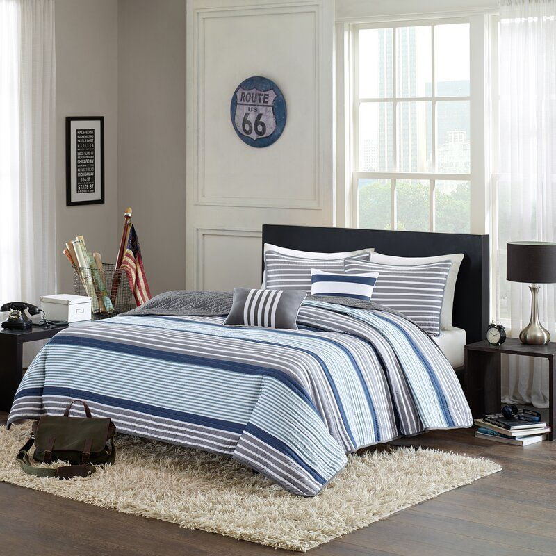 Zielinski Single Coverlet Comforter Sets Blue Bedding Sets Nautical Bedding Sets