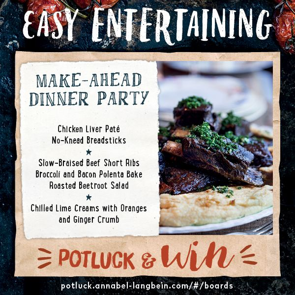 Make Ahead Dinner Party Ideas Part - 17: Make-Ahead Dinner Party - Hereu0027s A Menu Idea. Make It Even Easier And