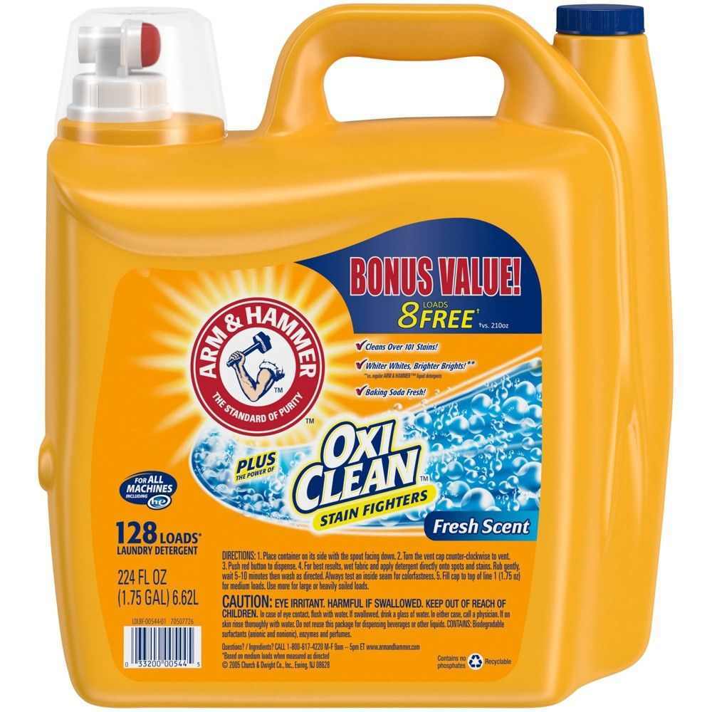 Arm Hammer Plus Oxiclean Fresh Scent Liquid Laundry Detergent