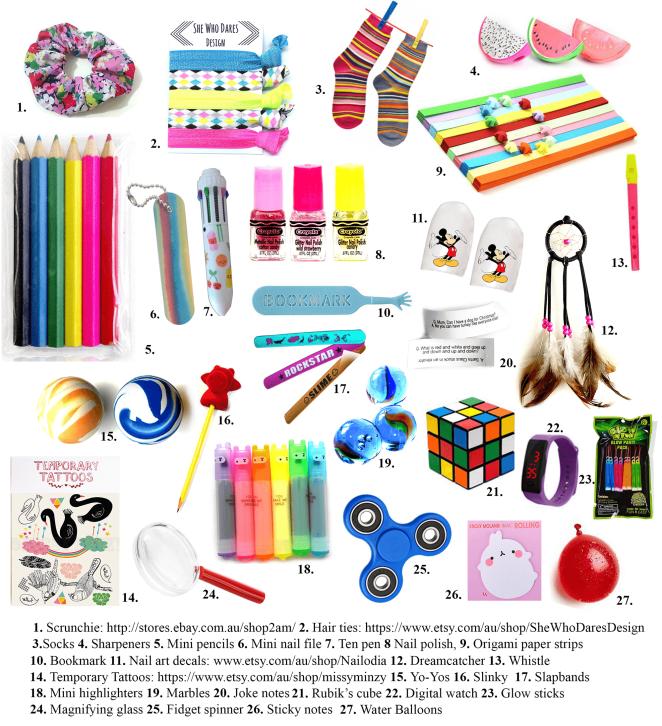 Childrens Birthday Xmas Gift Party Bag Stocking Filler Fun Arts Unicorn Pencils