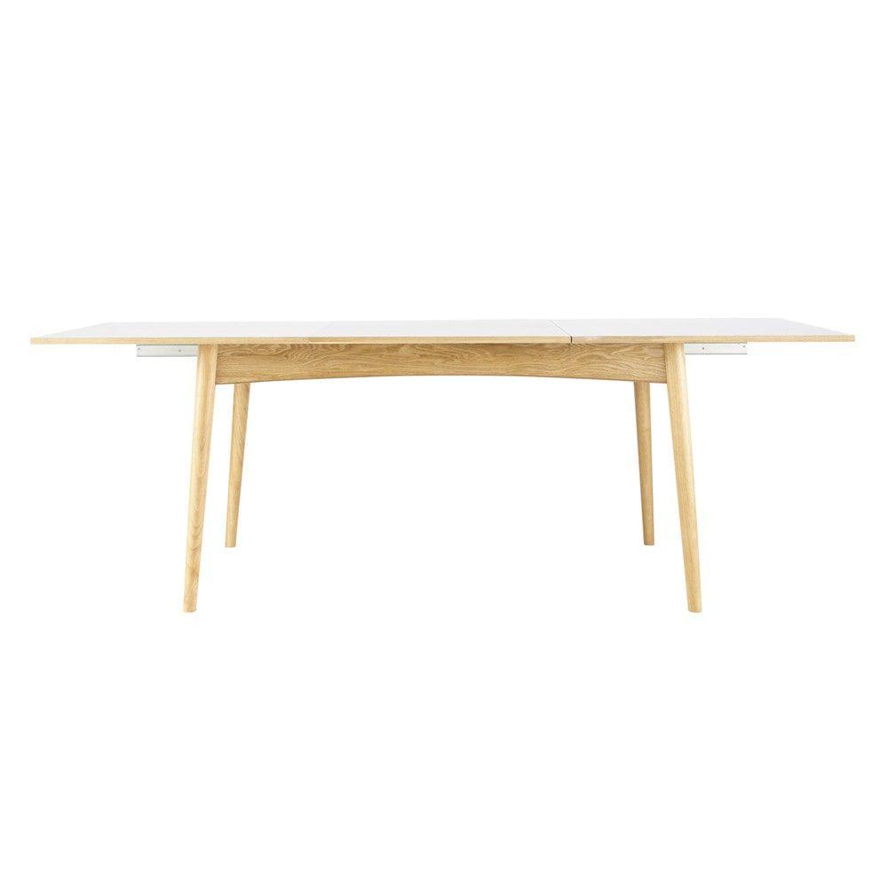 Table à manger extensible blanche 6 à 10 personnes L150/220 | Déco ...