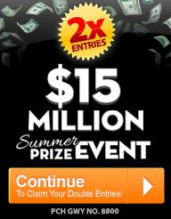 PCH $15 Million Contest 2017  2 times PCH Search Entry