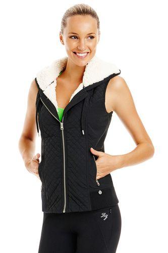 22d145f1 Lorna Jane | Sleeveless Aviator Jacket vest | Fashion Female ...