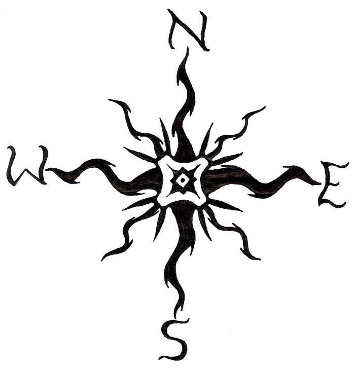 Tribal Compass Compass Art Compass Design Art Compass Tattoo Design