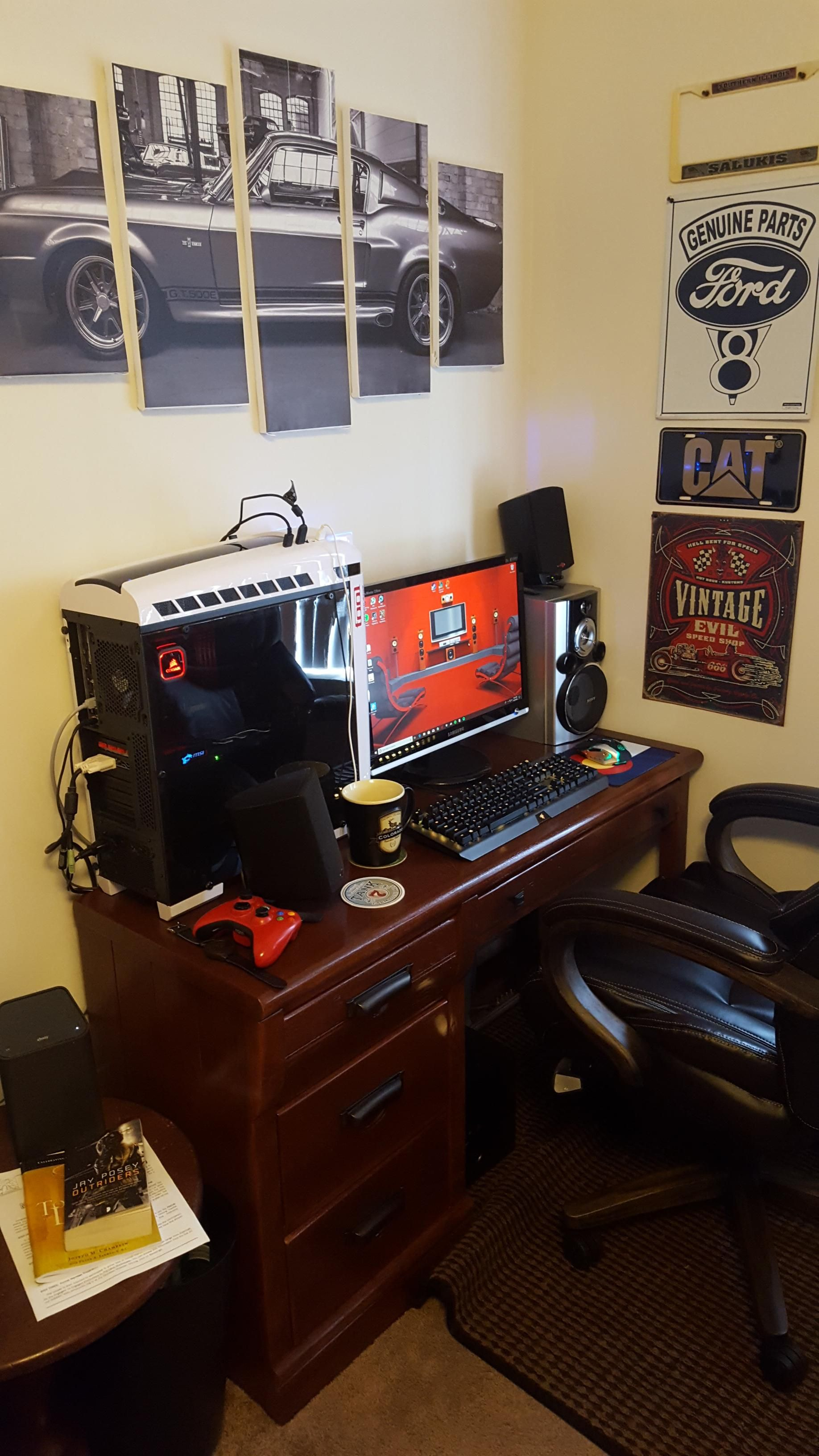 My battle corner Game room, Battlestation, Corner