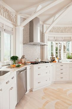 White Inset Kitchen