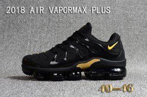 baf1ed0ad05a5 Mens Nike Air Vapormax Plus KPU TN + 2018 Black Gold Running Shoes ...