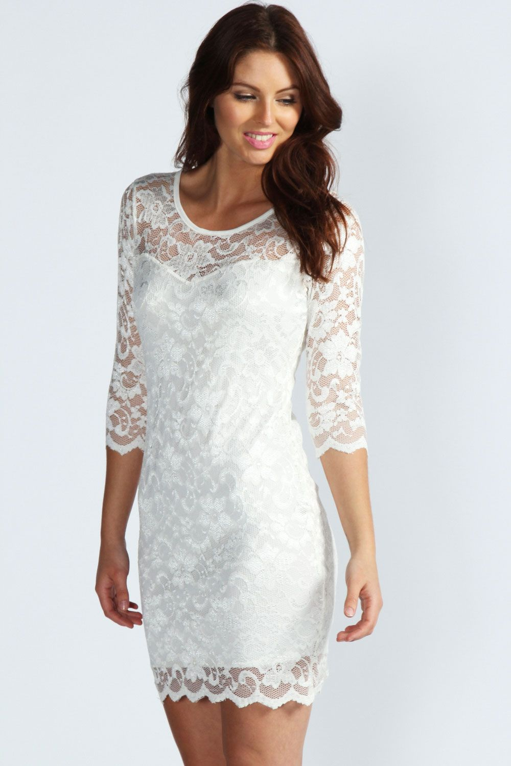 White cocktail dress for wedding  Pin by Kayla Wobschall on Wedding  Pinterest  Dresses Bodycon