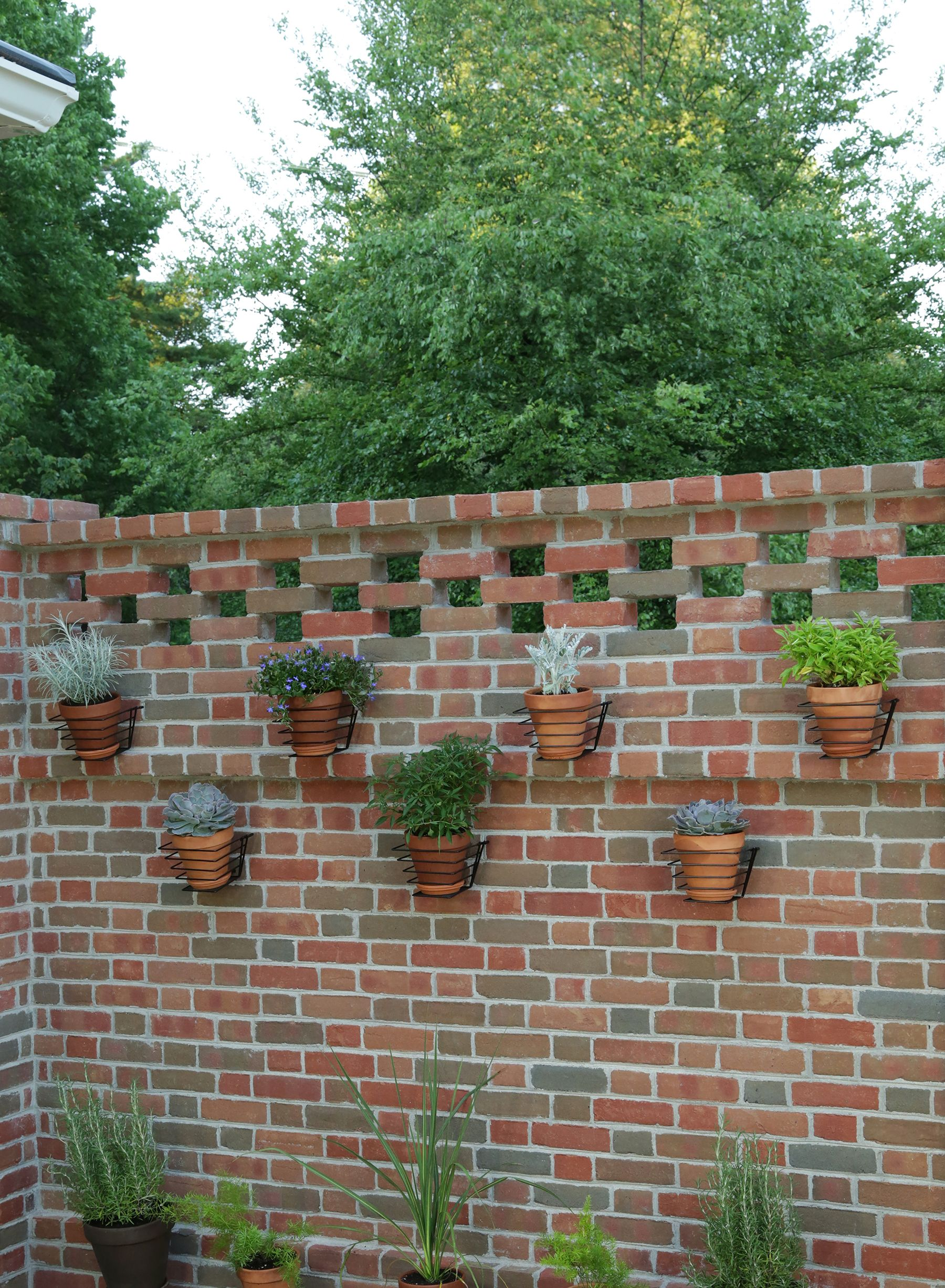 Brick Wall Herb And Flower Planters We Added To Another Section Of