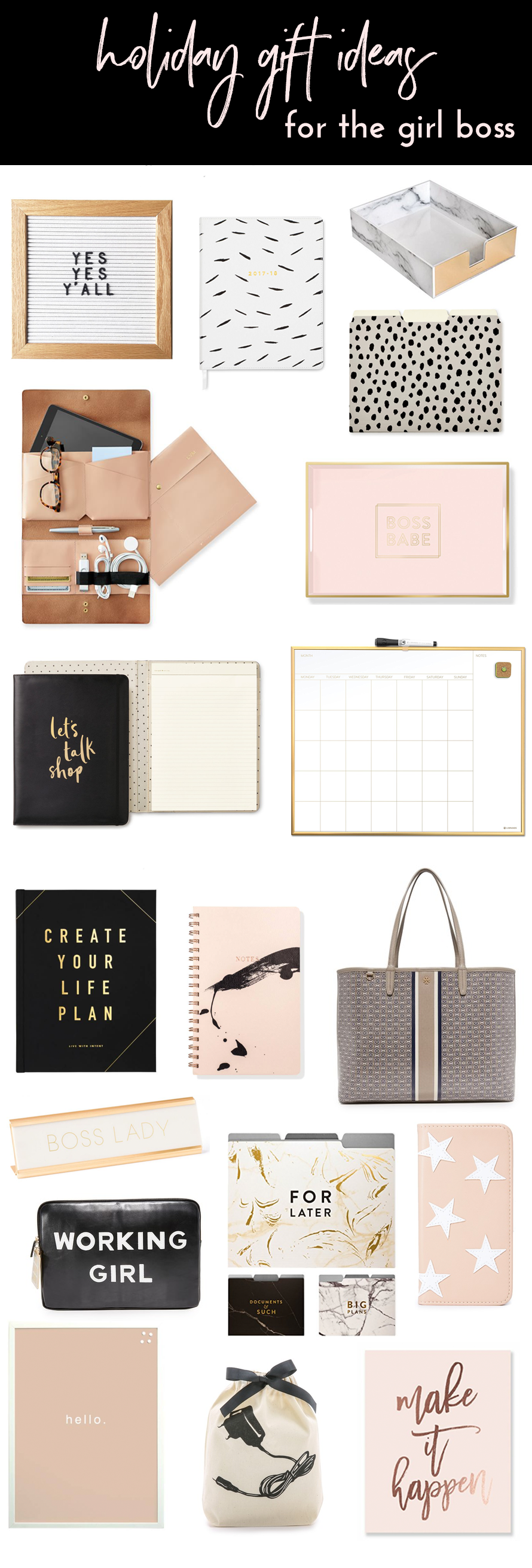 Gift Ideas For Her Boss Christmas Holiday Gifts Y Blush And Gold Office White