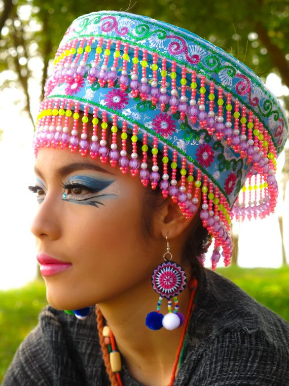 Hmong Earring /Accessories /Ethnic /Embroidery /Colorful