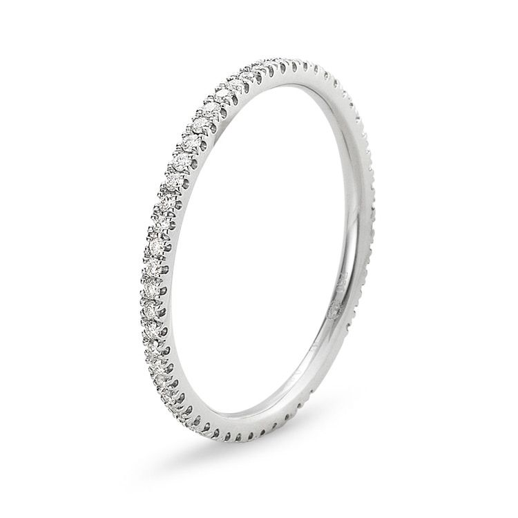 Classique Ring in White Gold with Diamonds Classique by Georg Jensen