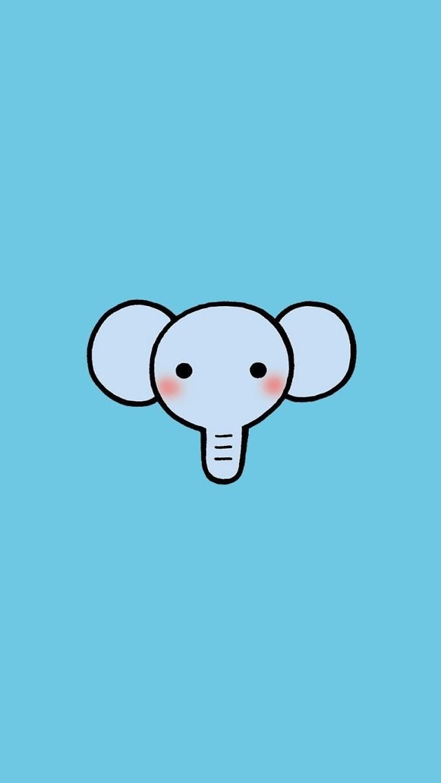 Iphone 5 Wallpaper Cartoon Animal Elephant With Images