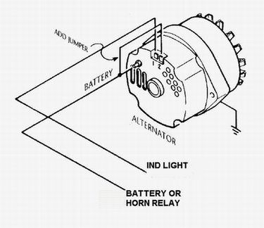 gm 3 wire alternator idiot light hook up hot rod forum rh pinterest com  gm one wire alternator schematic
