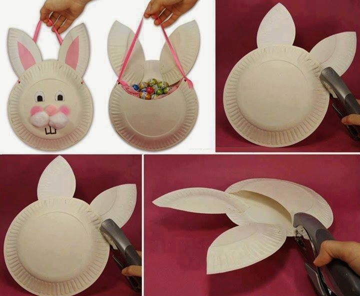 How to make easter paper plate basket easter diy bunny diy ideas diy how to make easter paper plate basket easter diy bunny diy ideas diy crafts do it yourself diy projects easter crafts solutioingenieria Choice Image