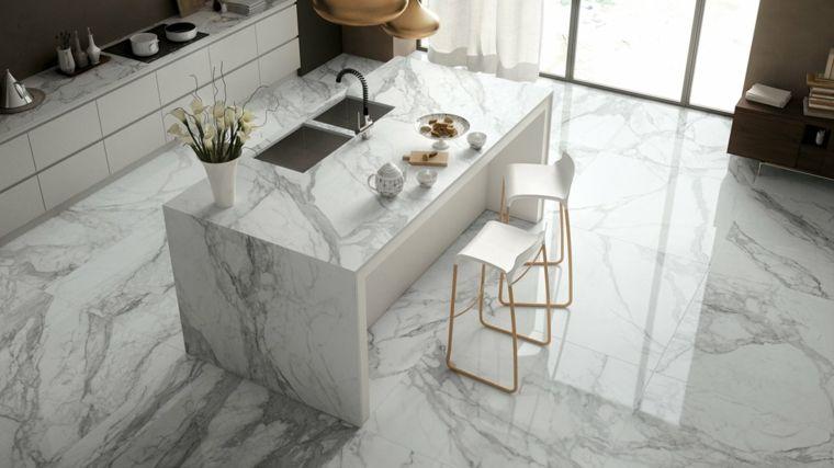 Encimeras cocina - 66 ideas increíbles de encimeras de mármol -