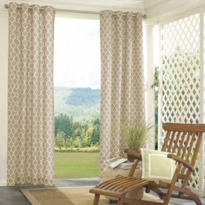 Outdoor curtains - I love the pattern!