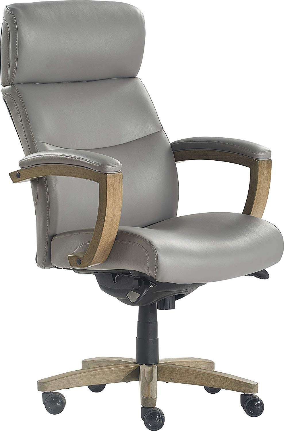 Amazon Com Lazboy Chr10086a Greyson Executive Office Chair Grey Kitchen Dining Executive Leather Office Chair Leather Office Chair Office Chair Laz y boy office chair