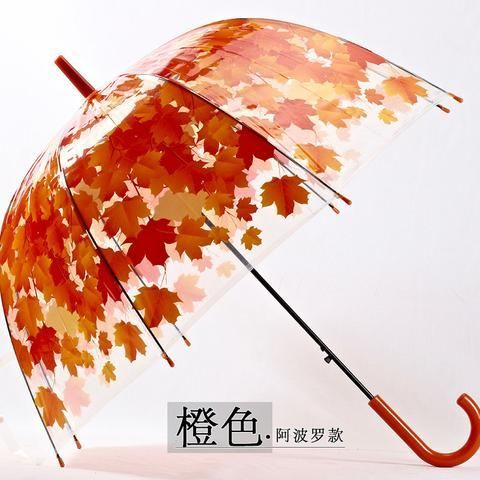 4 Colors Leaves Cage Umbrella Transparent Rainny Sunny Umbrella Parasol Cute Umbrella Women Cute Clear Paraguas Free Shipping #cuteumbrellas Material: Plastic Age Group: Adults Control: Non-automatic Umbrella Product: Umbrella Pattern: Long-handle Umbrella Model Number: LICC160823005 Function: Hanging Size: M Panel Material: Silver Coating Outdoor Activity: Fishing Type: Umbrellas Umbrella cloth material: Plastic Rod material: iron colour: Green (arch), yellow (arch), orange (arch) #cuteumbrellas
