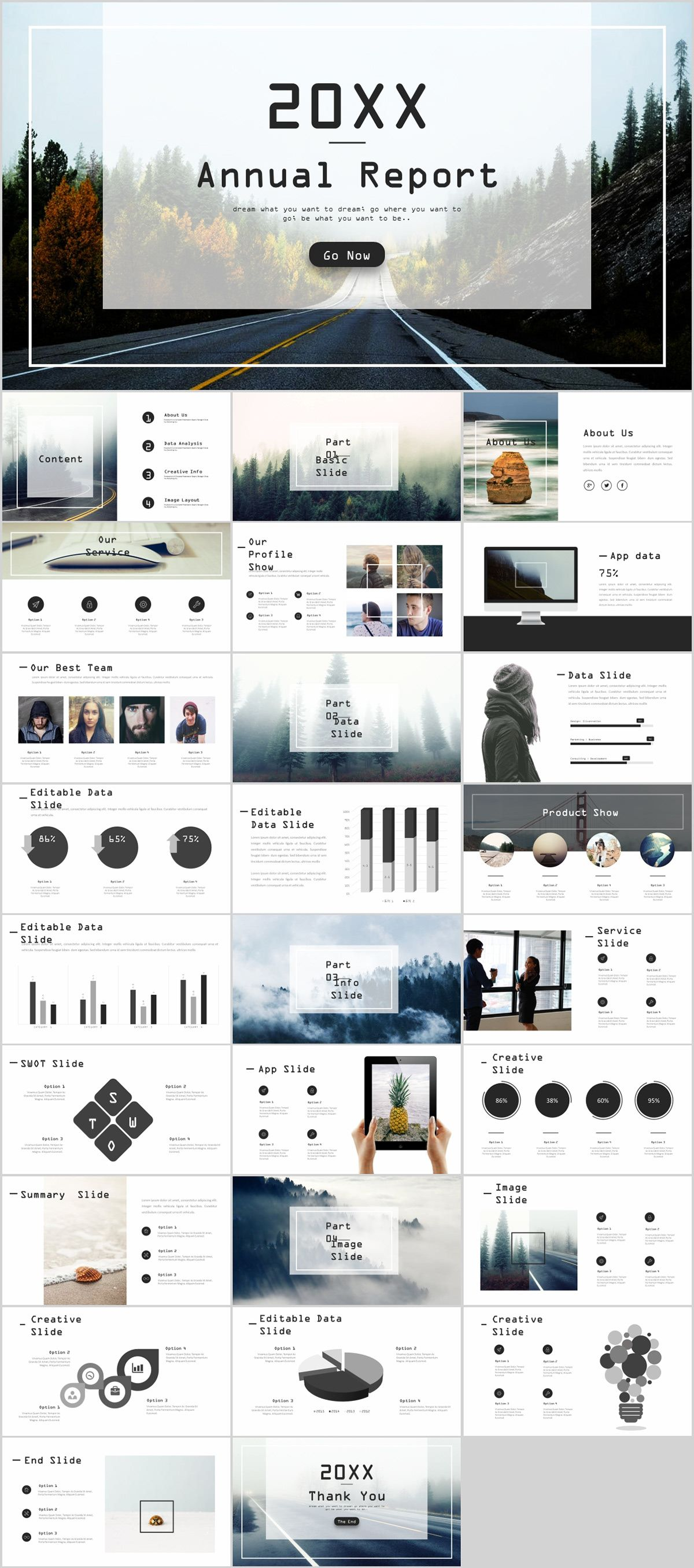 27 gray swot chart timeline powerpoint template on behance