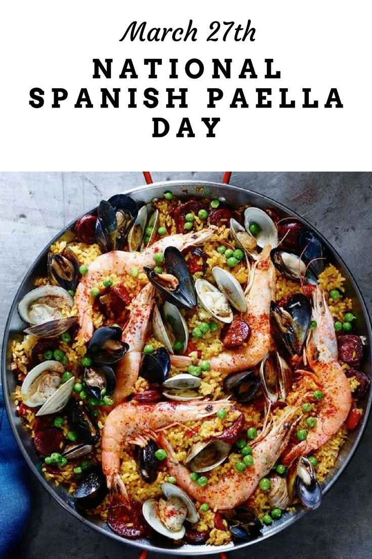 National Spanish Paella Day Holladaze