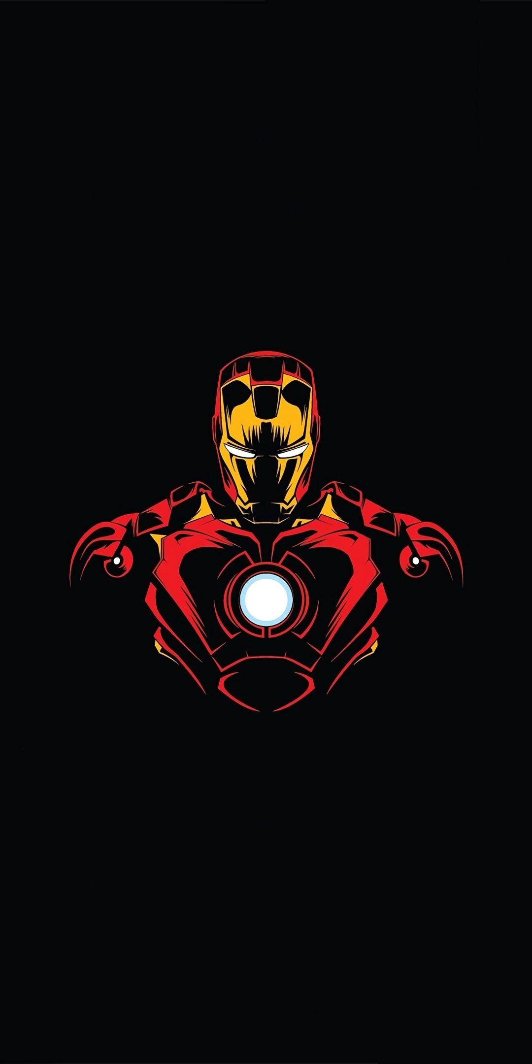 Hero, Iron man, minimalist, 1080x2160 wallpaper