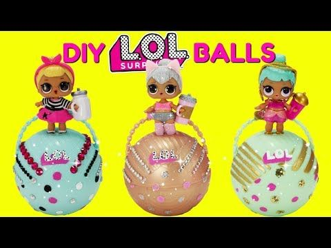 e0413aa7b6b D.I.Y. LOL Surprise Balls Custom Makeover Kitty Queen, Sis Swing, Genie LOL  Surprise Dolls Toys - YouTube